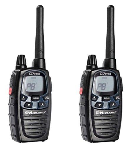 Midland G7E Pro - Paire de talkies-walkies, 8 canaux, noir